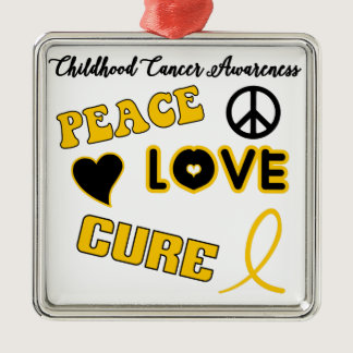 Childhood Cancer Awareness Metal Ornament