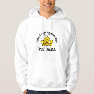 Childhood Cancer Awareness Month Bee 1.2 Hoodie
