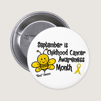 Childhood Cancer Awareness Month Bee 1.3 Button