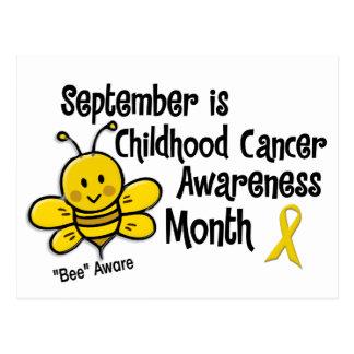 Childhood Cancer Awareness Month Bee 1.3 Postcard