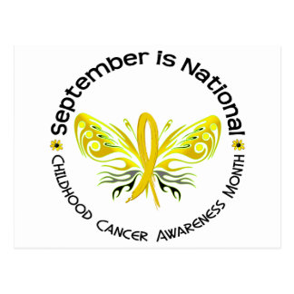 Childhood Cancer Awareness Month Butterfly 3.3 Postcard