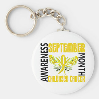 Childhood Cancer Awareness Month Butterfly 3 4 Keychains