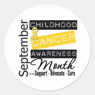 Childhood Cancer AWARENESS  Month Classic Round Sticker