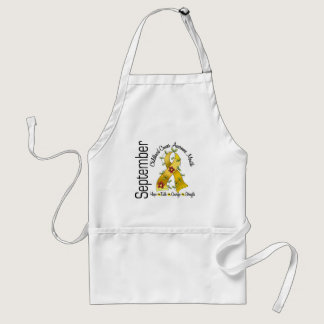 Childhood Cancer Awareness Month Flower Ribbon 1 Adult Apron