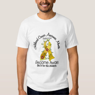 Childhood Cancer Awareness Month Flower Ribbon 2 T-Shirt