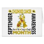 Childhood Cancer Awareness Month Flower Ribbon 4 Greeting Cards