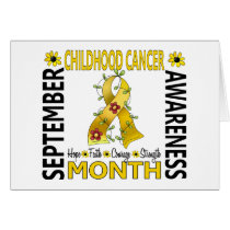 Childhood Cancer Awareness Month Flower Ribbon 4 Card