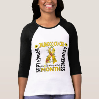 Childhood Cancer Awareness Month Flower Ribbon 4 T-Shirt