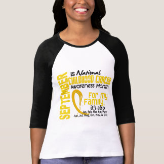 Childhood Cancer Awareness Month For My Family Shirts