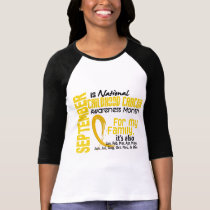 Childhood Cancer Awareness Month For My Family T-Shirt
