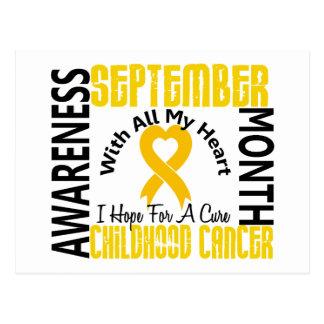 Childhood Cancer Awareness Month Heart 1.1 Postcard