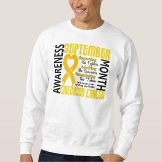 Childhood Cancer Awareness Month Heart 1.5 Sweatshirt