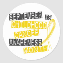 Childhood Cancer Awareness Month L1 Classic Round Sticker