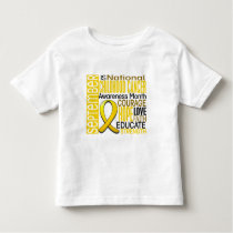 Childhood Cancer Awareness Month Ribbon I2 1.3 Toddler T-shirt