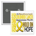 Childhood Cancer Awareness Month Ribbon I2 1.4 Pinback Button