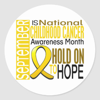 Childhood Cancer Awareness Month Ribbon I2 1.4 Classic Round Sticker