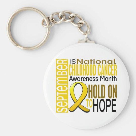 Childhood Cancer Awareness Month Ribbon I2 1.4 Keychain