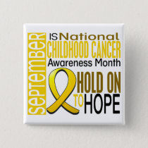 Childhood Cancer Awareness Month Ribbon I2 1.4 Pinback Button