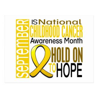 Childhood Cancer Awareness Month Ribbon I2 1.4 Postcard