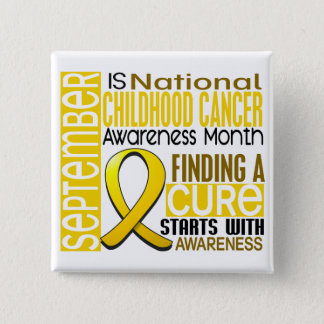 Childhood Cancer Awareness Month Ribbon I2 1.5 Button