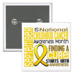 Childhood Cancer Awareness Month Ribbon I2 1.5 Pinback Buttons