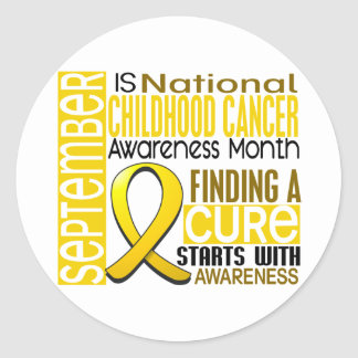 Childhood Cancer Awareness Month Ribbon I2 1.5 Classic Round Sticker