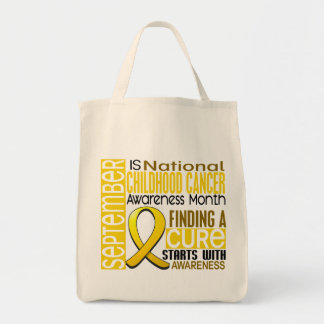 Childhood Cancer Awareness Month Ribbon I2 1.5 Grocery Tote Bag