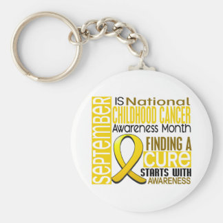 Childhood Cancer Awareness Month Ribbon I2 1.5 Keychain