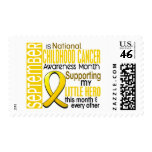 Childhood Cancer Awareness Month Ribbon I2 1 Postage Stamp