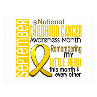 Childhood Cancer Awareness Month Ribbon I2 2 Postcard