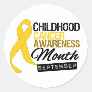 Childhood Cancer Awareness Month Ribbon v8 Classic Round Sticker
