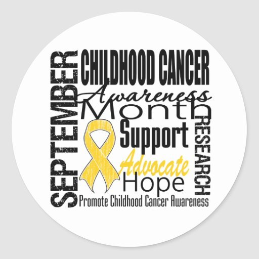 Childhood Cancer Awareness Month Tribute Round Sticker