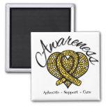 Childhood Cancer Awareness Mosaic Heart Refrigerator Magnets