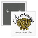 Childhood Cancer Awareness Mosaic Heart Pins