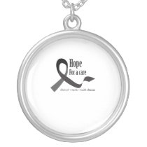 Childhood Cancer Awareness No One Fights Alone Silver Plated Necklace