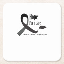 Childhood Cancer Awareness No One Fights Alone Square Paper Coaster