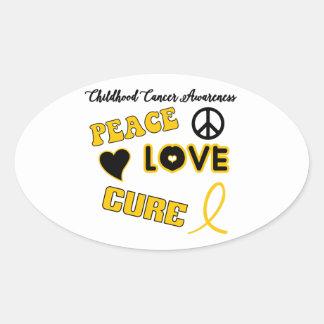 Childhood Cancer Awareness Oval Sticker