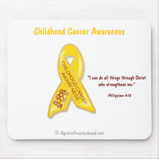 Childhood Cancer Awareness Phil 4:13 Mouse Pad