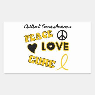 Childhood Cancer Awareness Rectangular Sticker
