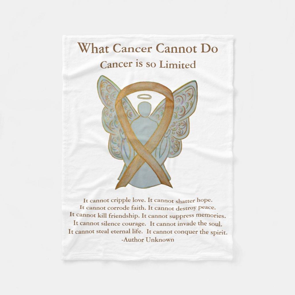 Childhood Cancer Awareness Ribbon Angel Blanket