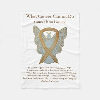 Childhood Cancer Awareness Ribbon Angel Blanket