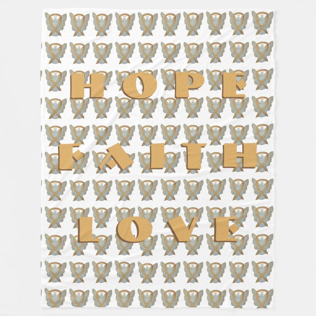 Childhood Cancer Awareness Ribbon Angel Blankets