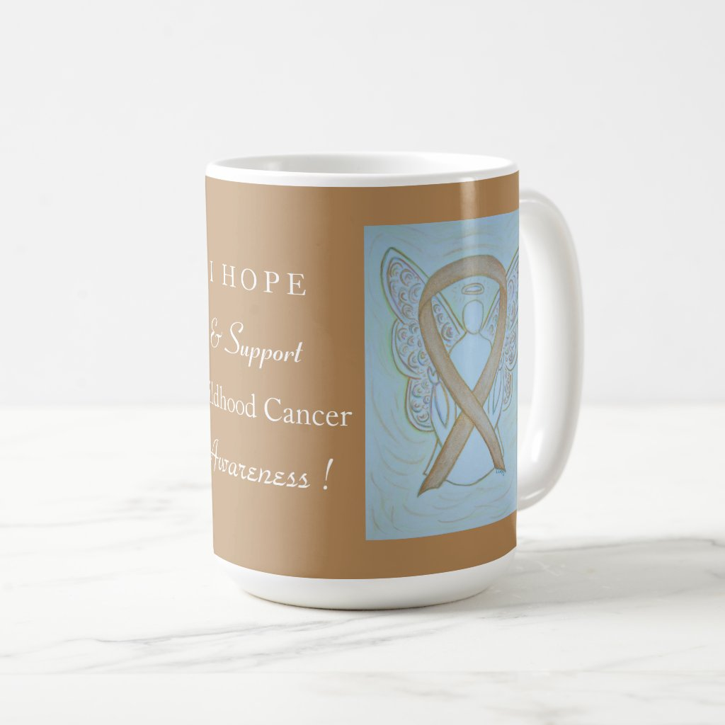 Childhood Cancer Awareness Ribbon Angel Cup or Mug