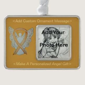 Childhood Cancer Awareness Ribbon Angel Ornament