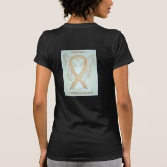 Childhood Cancer Awareness Ribbon Angel Shirts