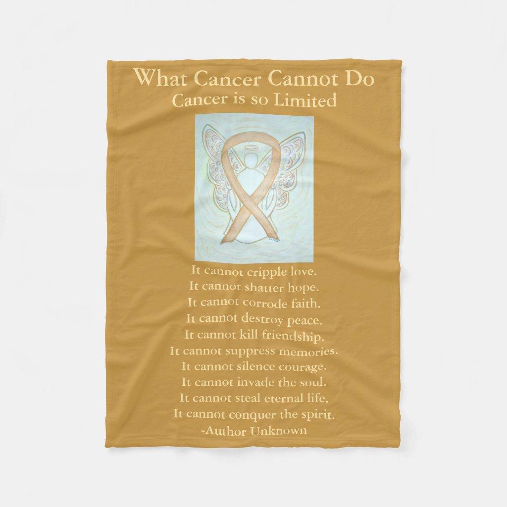 Childhood Cancer Awareness Ribbon Fleece Blanket