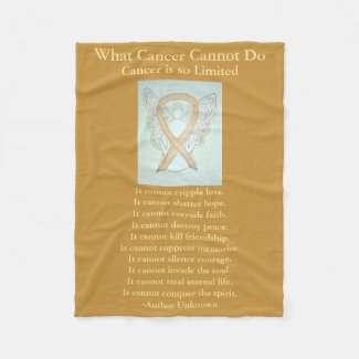 Childhood Cancer Awareness Ribbon Fleece Blanket