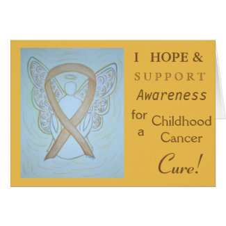 Childhood Cancer Awareness Ribbon Greeting Card