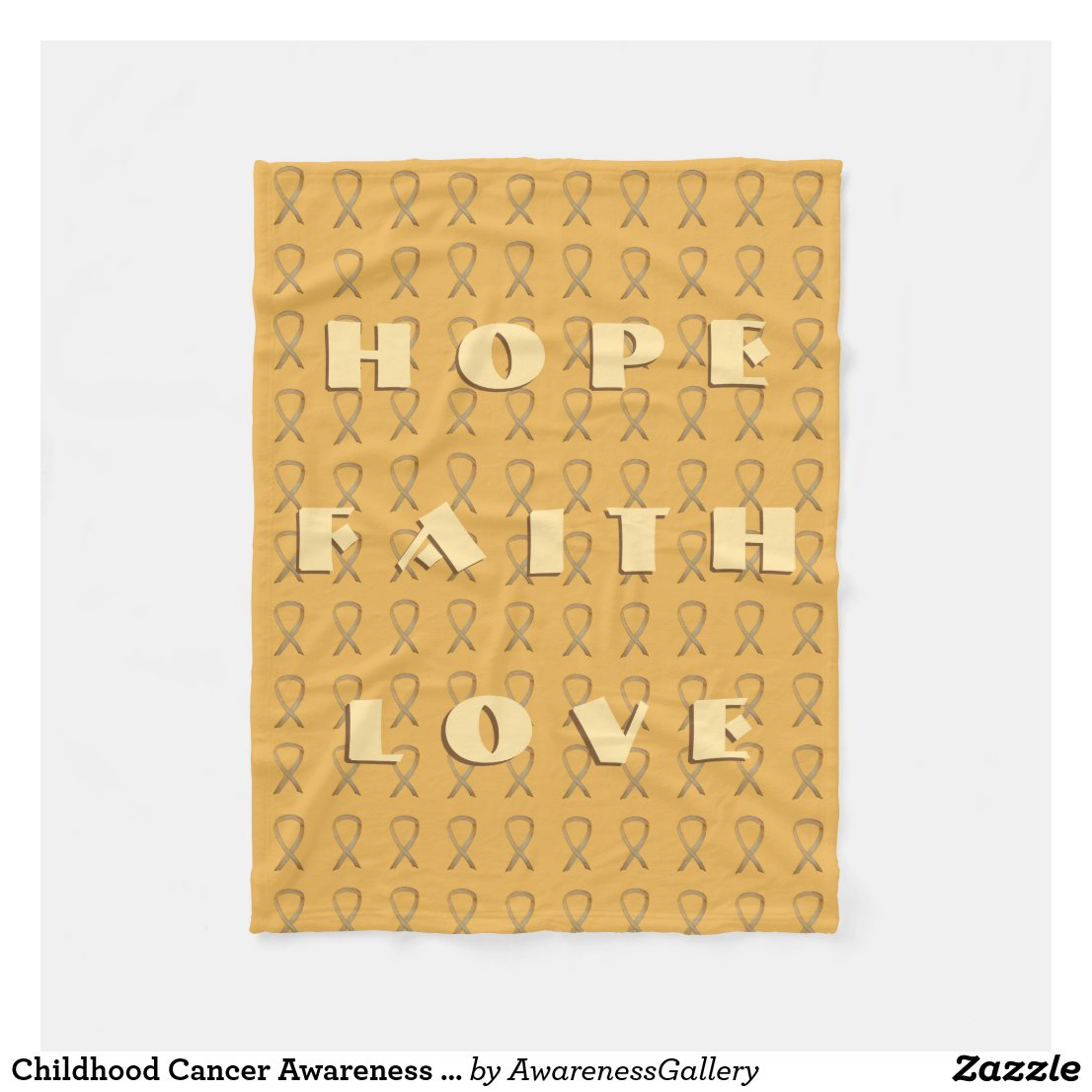 Childhood Cancer Awareness Ribbon Soft Blanket