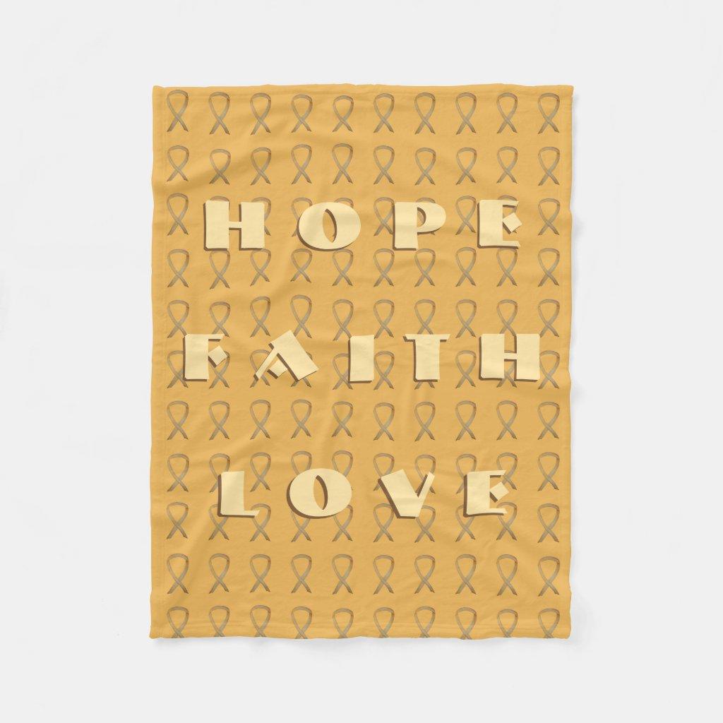 Childhood Cancer Awareness Ribbon Soft Blanket